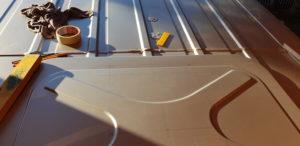 Vorbereitung zum Einbau Dachfenster